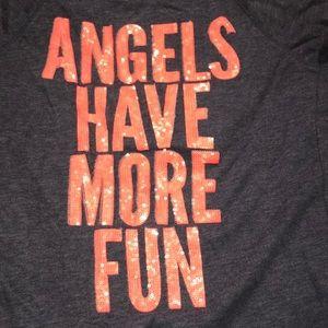 """Angels have more fun"" zip up"